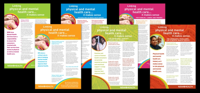 Physical Healthcare of Mental Health Consumers campaign factsheets
