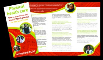 Physical Healthcare of Mental Health Consumers campaign Aboriginal brochure