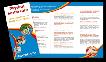 Physical Healthcare of Mental Health Consumers campaign brochure