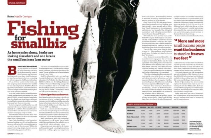 Money magazine - small business loans spread