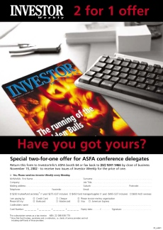 Investor Weekly subscription ad 2002