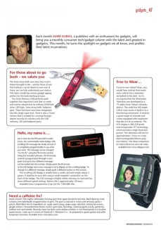 Investment & Technology magazine - gadgets