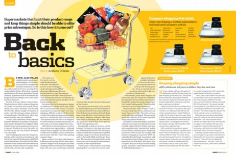 Money magazine - supermarket spread