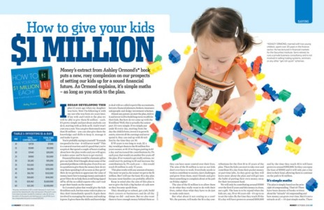 Money magazine spread - give your kids $1million-1