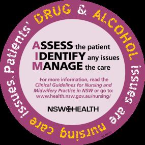 AIM Drugs Testing Patients - sticker