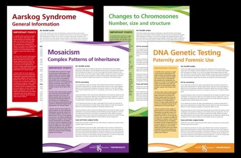 Centre for Genetics factsheets