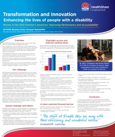 EnableNSW Customer Service conference poster
