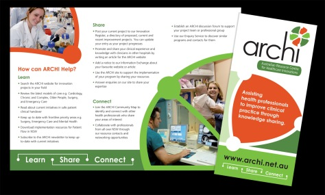 Archi Brochure trifold DL size