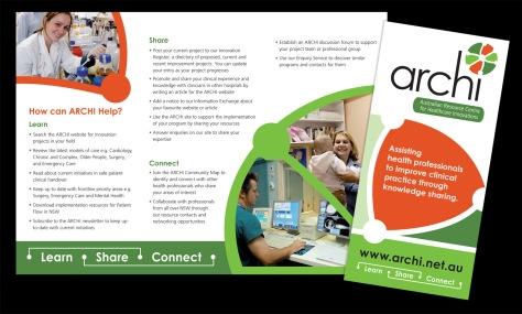 Archi Brochure trifold DL size