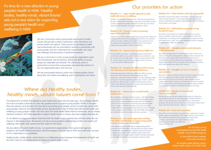 YHP summary - four page brochure inside pages