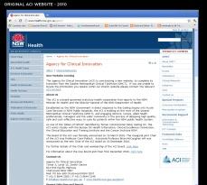 ACI Website - before
