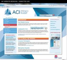 ACI Website design - home page