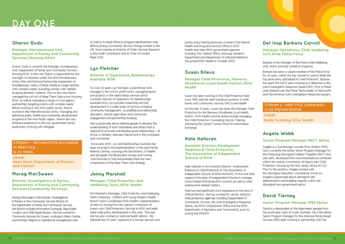 Keep them Safe conference guide spread