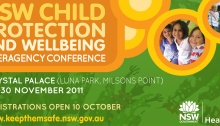 Keep them Safe conference save date flyer