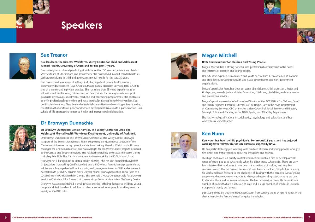 CAMHS conference handbook spread 1