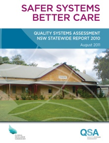 Safer systems better care 2010 - cover