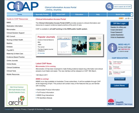 CIAP home page