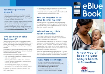 eBlueBook DL brochure outside
