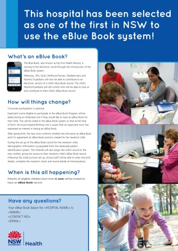 eBlue Book app information poster