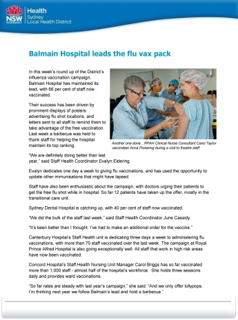 040414_Balmain Hospital leads the flu vax pack