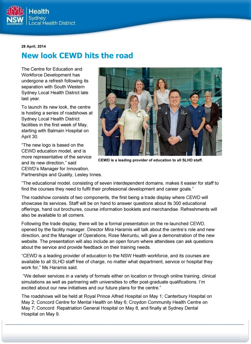 New look CEWD hits the road