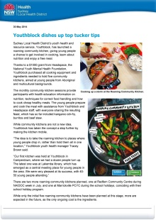 Youthblock dishes up top tucker tips