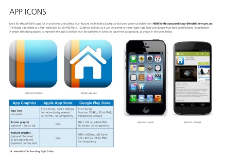 eHealth NSW Branding Style Guide app icons