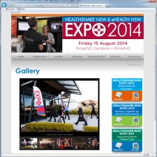 expo 2013 website gallery page