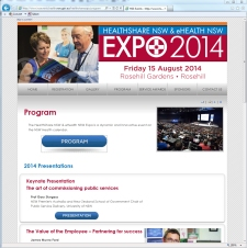 expo 2013 website program page