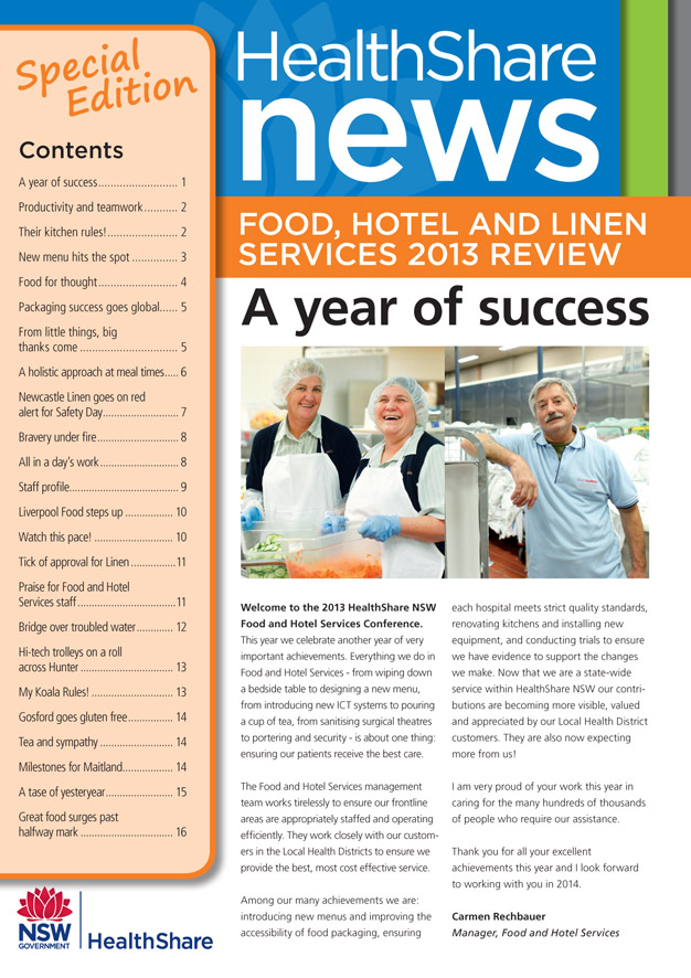 HealthShare NSW News Special edition - cover