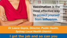 Flu Vaccination campaign posters version 1