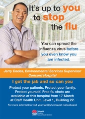 Flu Vaccination campaign posters version 2