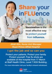 Flu Vaccination campaign posters version 3