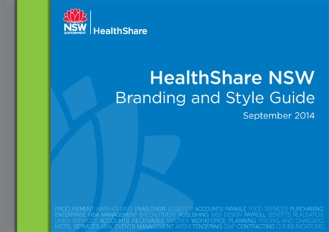 HealthShare NSW Branding Style Guide cover