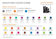 eHealth NSW Branding Style Guide palette