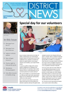 SWSLHD newsletter - cover