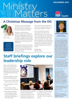 Ministry Matters newsletter December 2012 pg1