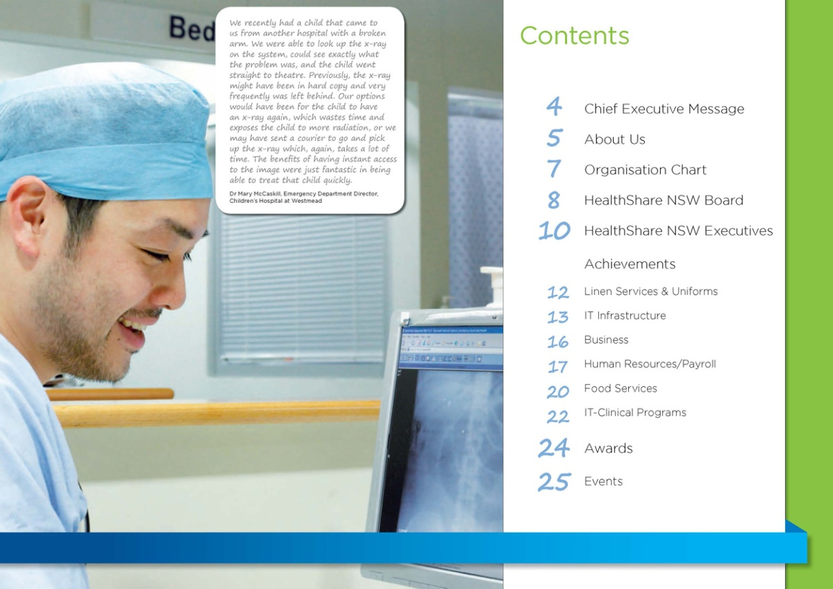 HealthShare Year In Review 2013 contents