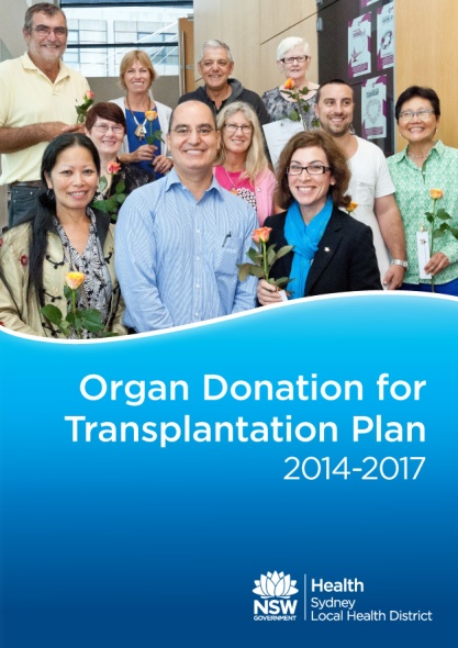 Organ Donation for Transplantation Plan - cover