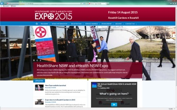 Expo 2015 website homepage