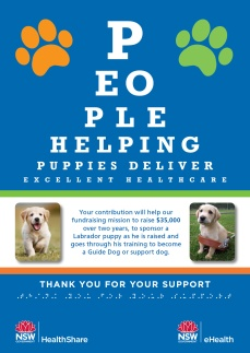 Guide dog fundraiser thank you poster