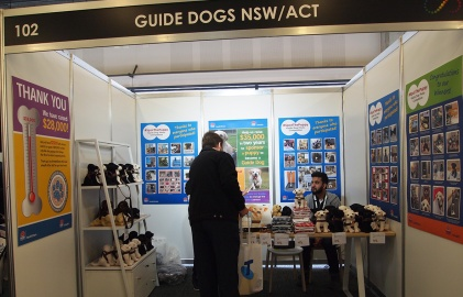 Guide Dog merchandise booth, HSeH Expo 2017